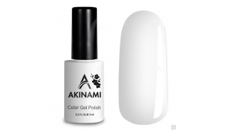 Akinami Color Gel Polish White - №001