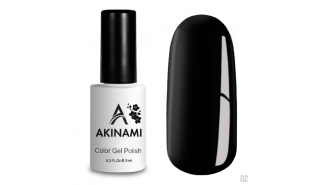 Akinami Color Gel Polish Black - №002