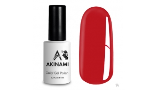 Akinami Color Gel Polish Red Coral  - №014