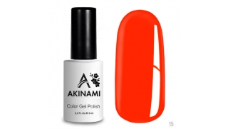 Akinami Color Gel Polish Orange Red - №015