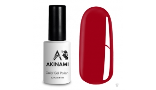 Akinami Color Gel Polish Aurora Red  - №017