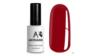 Akinami Color Gel Polish Red  - №018