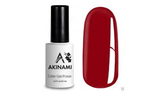 Akinami Color Gel Polish Red  - №018
