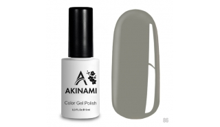 Akinami Color Gel Polish Gray Silk - №86