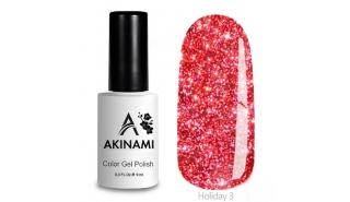 Akinami Color Gel Polish Holiday - 03, светоотражающий гель-лак, 9 мл