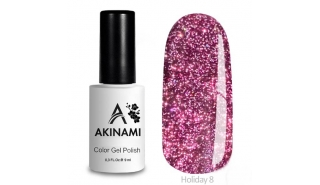 Akinami Color Gel Polish Holiday - 08, светоотражающий гель-лак, 9 мл