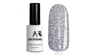 Akinami Color Gel Polish Solar - 01, светоотражающий гель-лак, 9 мл
