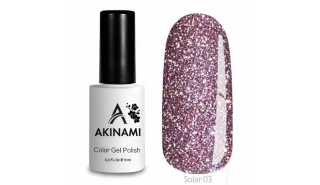 Akinami Color Gel Polish Solar - 03, светоотражающий гель-лак, 9 мл