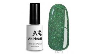 Akinami Color Gel Polish Solar - 13, светоотражающий гель-лак, 9 мл