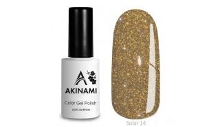 Akinami Color Gel Polish Solar - 14, светоотражающий гель-лак, 9 мл