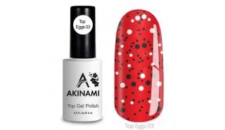 Akinami Top  Eggs 03 - Топ с чёрной и белой крошкой , 9 ml