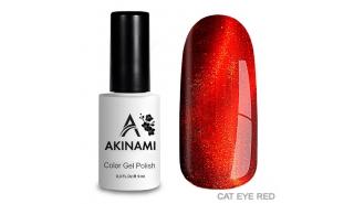 Akinami Cat Eye Red #1 - гель-лак с эффектом Кошачий Глаз, 9 ml