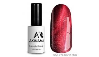 Akinami Cat Eye dark Red  #2 - гель-лак с эффектом Кошачий Глаз, 9 ml