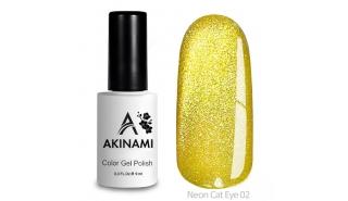 Akinami Color Gel Polish Cat Eye Neon 02 - гель-лак с эффектом Кошачий Глаз, 9 ml
