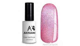 Akinami Color Gel Polish Cat Eye Neon 04 - гель-лак с эффектом Кошачий Глаз, 9 ml
