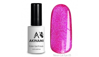 Akinami Color Gel Polish Cat Eye Neon 05 - гель-лак с эффектом Кошачий Глаз, 9 ml