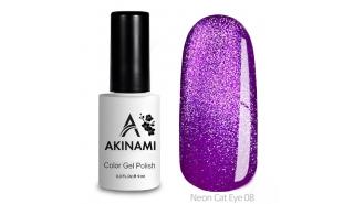 Akinami Color Gel Polish Cat Eye Neon 08 - гель-лак с эффектом Кошачий Глаз, 9 ml