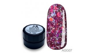 Akinami Glitter Gel 07 - глиттер-гель 5 г.