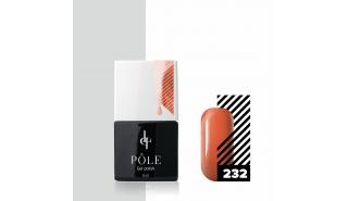 Цветной гель-лак POLE №232 - морковный торт, 8 мл