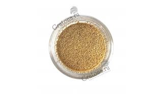 Бульонки металлические золото Gold 0,6 мм