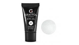 Grattol Acryl Gel Glitter 07 - Акрил-гель c глиттером для моделирования, 30 ml
