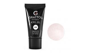 Grattol Acryl Gel Glitter 08 - Акрил-гель c глиттером для моделирования, 30 ml