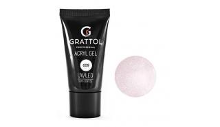 Grattol Acryl Gel Glitter 09 - Акрил-гель c глиттером для моделирования, 30 ml