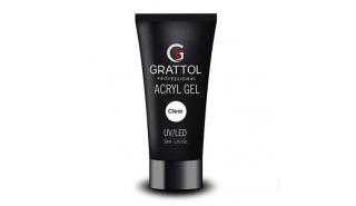 Grattol Acryl Gel Clear - Акрил-гель для моделирования, 30 ml