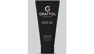 Grattol Acryl Gel Milk - Акрил-гель молочный для моделирования, 30 ml