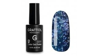 Grattol Color Gel Polish Bright - Star 07, светоотражающий гель-лак, 9 ml