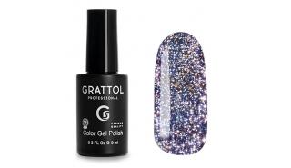 Grattol Color Gel Polish Bright - Star 08, светоотражающий гель-лак, 9 ml