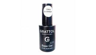 Grattol Rubber Base Gel Extra Cremnium - Каучуковая база  густая, 9 ml