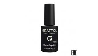Grattol MATTE TOP GEL - Матовый топ , 9 ml