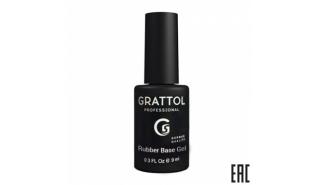 Grattol NEW Rubber Base Universal+Pedicures - Универсальная тонкая база средней жесткости,9 ml
