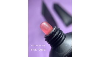 The One Polygel - полигель оттенок №3 (розовый) 30гр