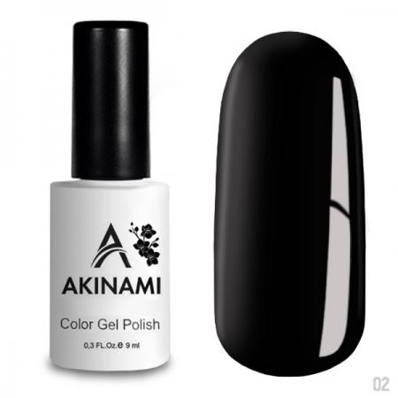 Akinami Color Gel Polish Black - №002