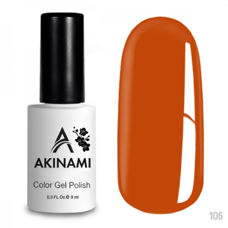 Akinami Color Gel Polish Orange - №106