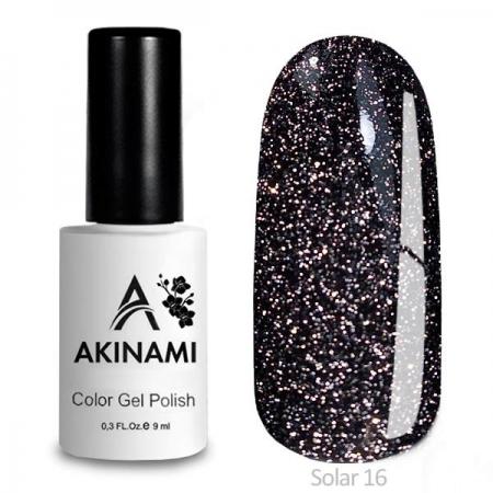 Akinami Color Gel Polish Solar - 16, светоотражающий гель-лак, 9 мл
