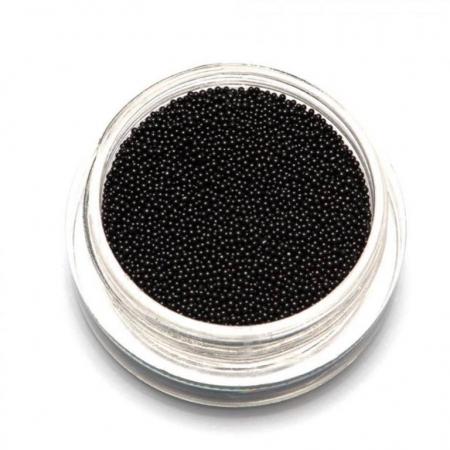 Бульонки металлические Черные Black 0,8 мм
