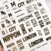 "3D металлические Наклейки ""LONDON"" Gold на клейкой основе"