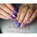 MIX Жемчуг для дизайна -цветной BLUE COBALT 170 штук